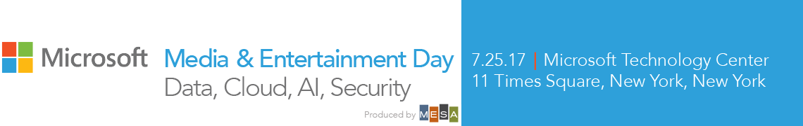 Microsoft Media & Entertainment Day 2017