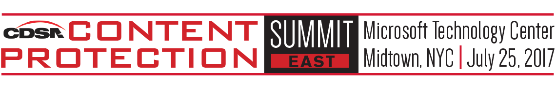 CDSA's Content Protection Summit East 2017