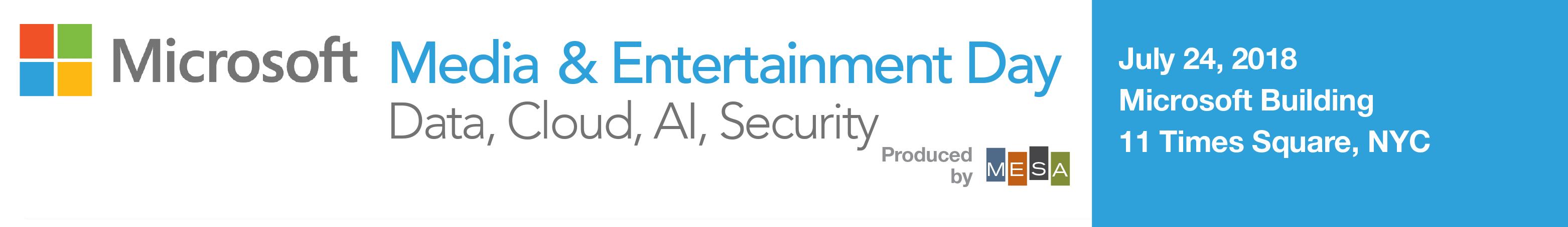 Microsoft Media & Entertainment Day 2018