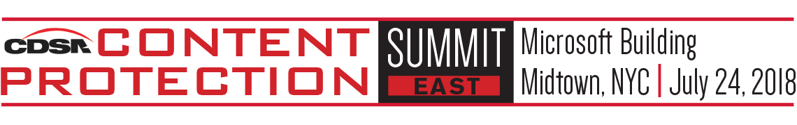 Content Protection Summit East 2018