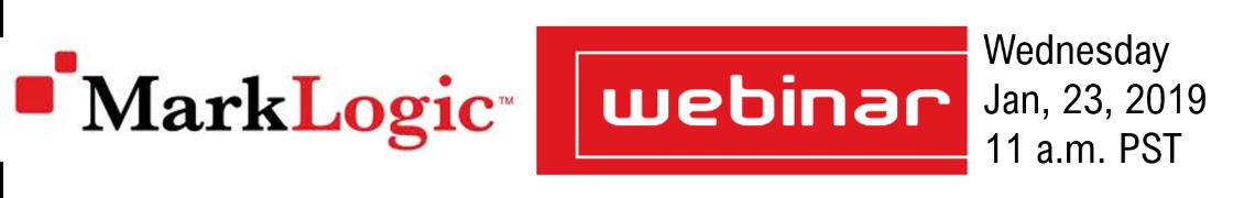 MarkLogic Webinar: AI and the Future of Entertainment Data – 1/23/19