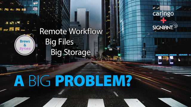 Caringo Webinar: Remote Workflows, Big Files & Big Storage…A Big Problem? Brews & Bytes webcast, ep 5 (Signiant)