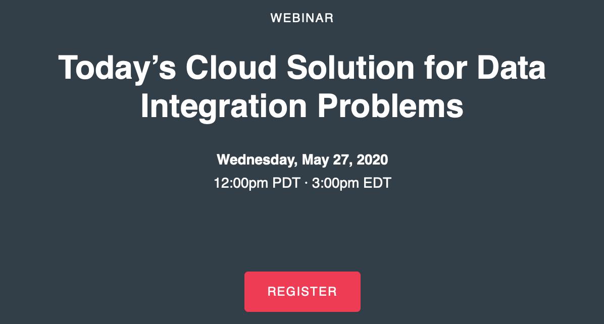 MarkLogic Webinar: Data Hubs – Today's Cloud Solution for Data Integration Problems