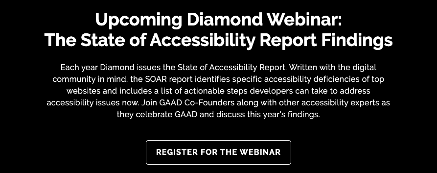 Diamond Webinar: The State of Accessibility Report Findings