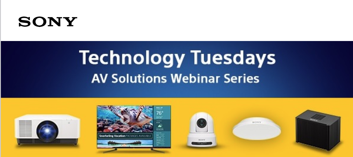 Sony Technology Tuesdays – 4K SXRD Projectors: Product Intro, multi-projector configs and APPLICATIONS for 4k Projection