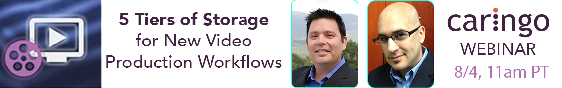 5 Tiers of Storage for New Video Production Workflows: The Sequel – Caringo Webinar