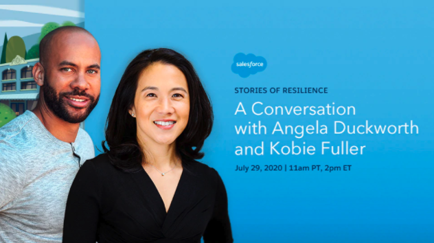 Salesforce LIVE Broadcast – Stories of Resilience: A Conversation with Angela Duckworth and Kobie Fuller